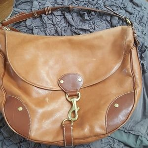 Timeless Ralph Lauren Hobo style saddle bag